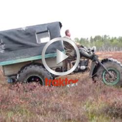 En rysk trehjuling kommer fram över allt!!!