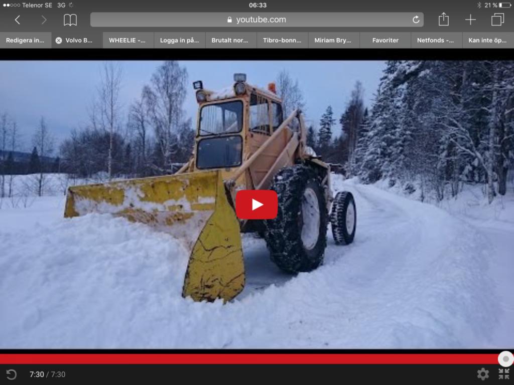 Snöröj med Volvo BM 620!