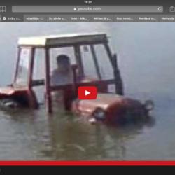 Hur hamnade den här traktorn i vattnet?