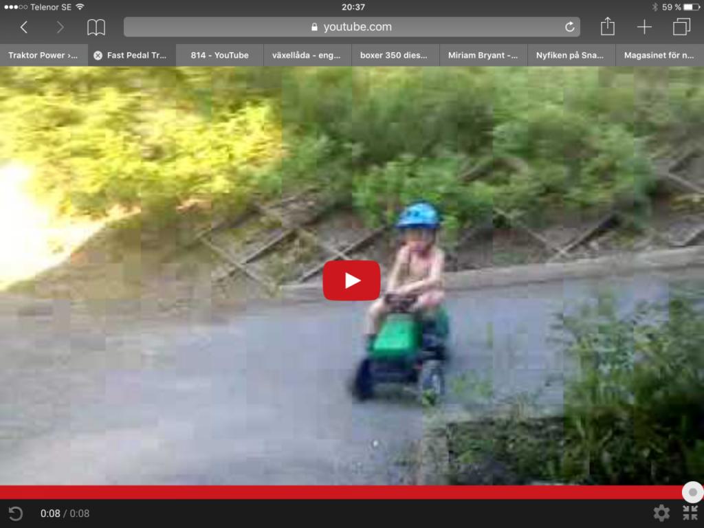 Drifting med pedaltraktor!