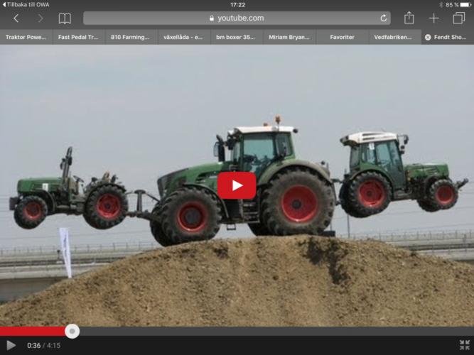 Här showar proffsen med Fendt-traktorer.