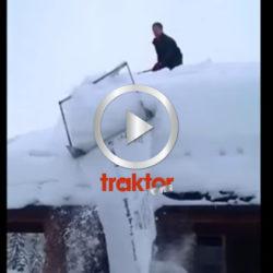 Här är utrustningen som tar av snön från taken i Norge!