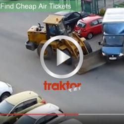 Hur stoppar man en galning i hjullastare?