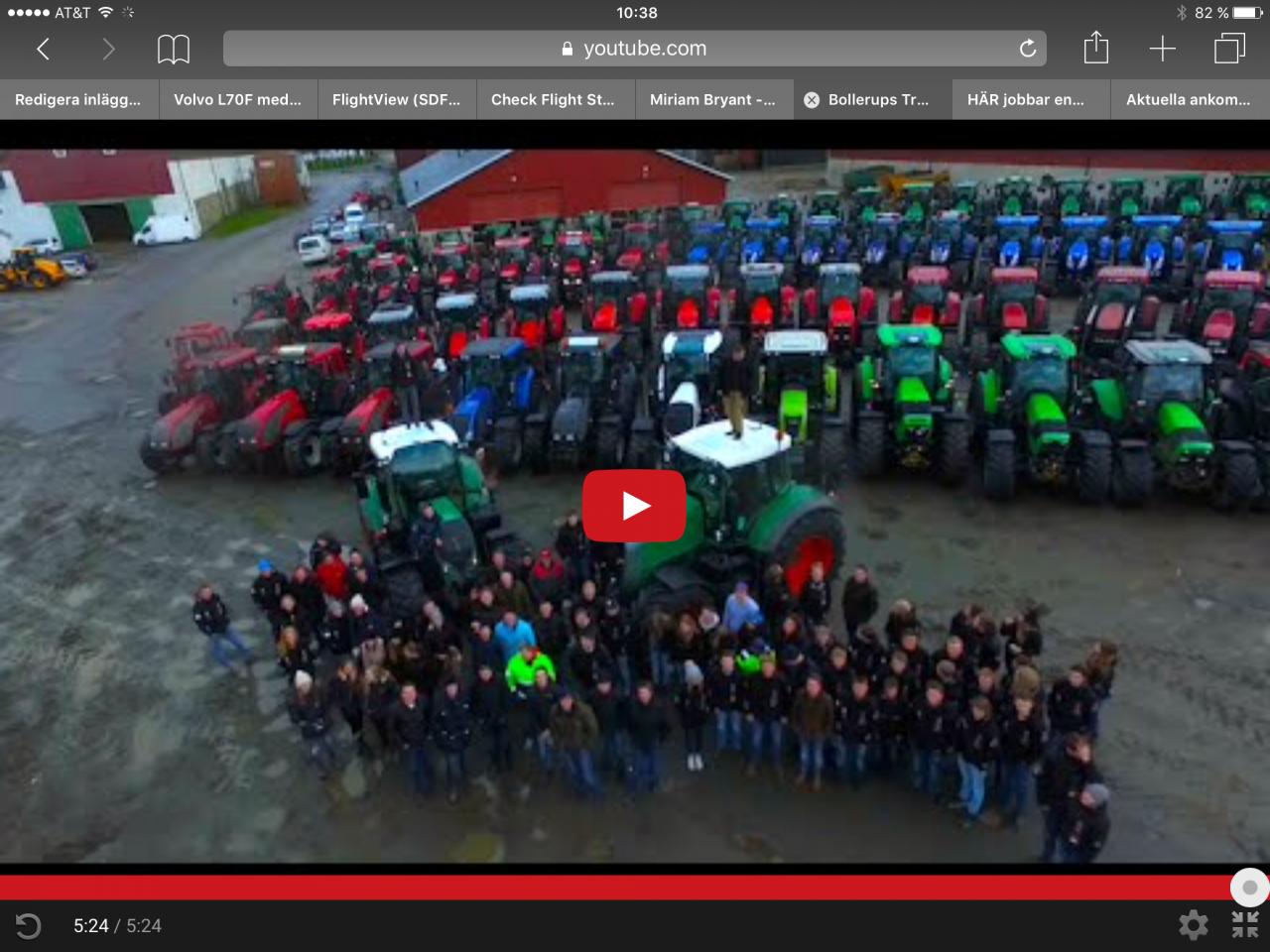 Det är traktorvecka i Bollerup!