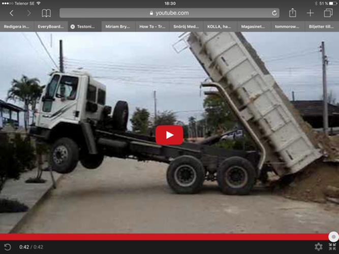 OPS! Hur ska lastbilen komma ned?