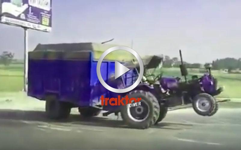 Har du sett vilken wheelie!?! Det är traktorkörning på bakhjulen!