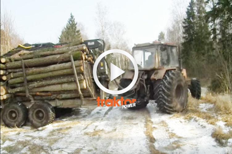 Kolla om traktorn får upp de här två lassen!