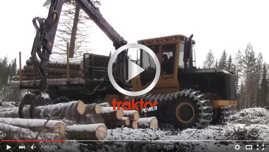 SÅ jobbar en jätte-Tigercat på hygget!