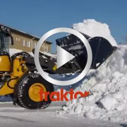 Så jobbar en Volvo L60F i snösvängen!