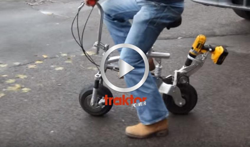 Så får du fart på cykeln! Ta en batteridriven borrmaskin!