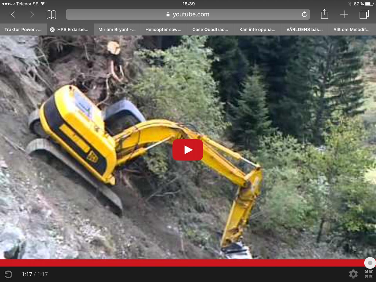 Så glider du nedför ett stup med grävaren!!!