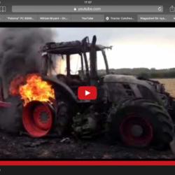 Så brinner en traktor!
