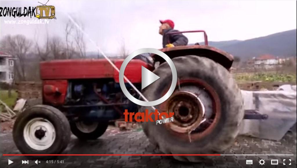 SÅ fixar traktorn till en hiss!