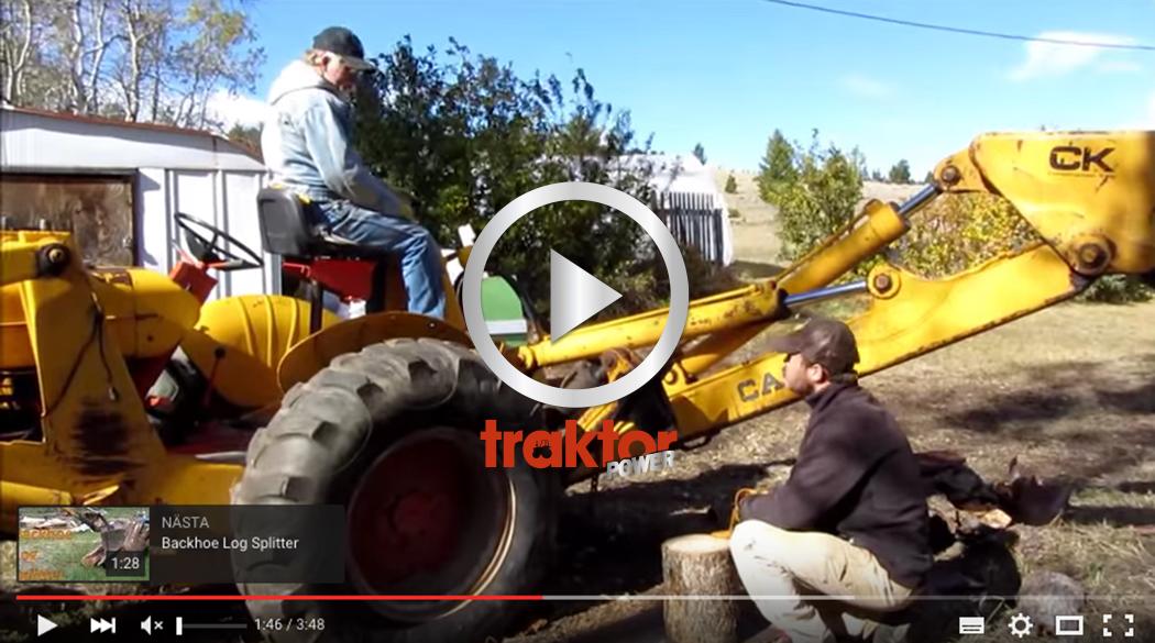Hur funkar traktorgrävaren som vedklyv? KOLLA HÄR!!