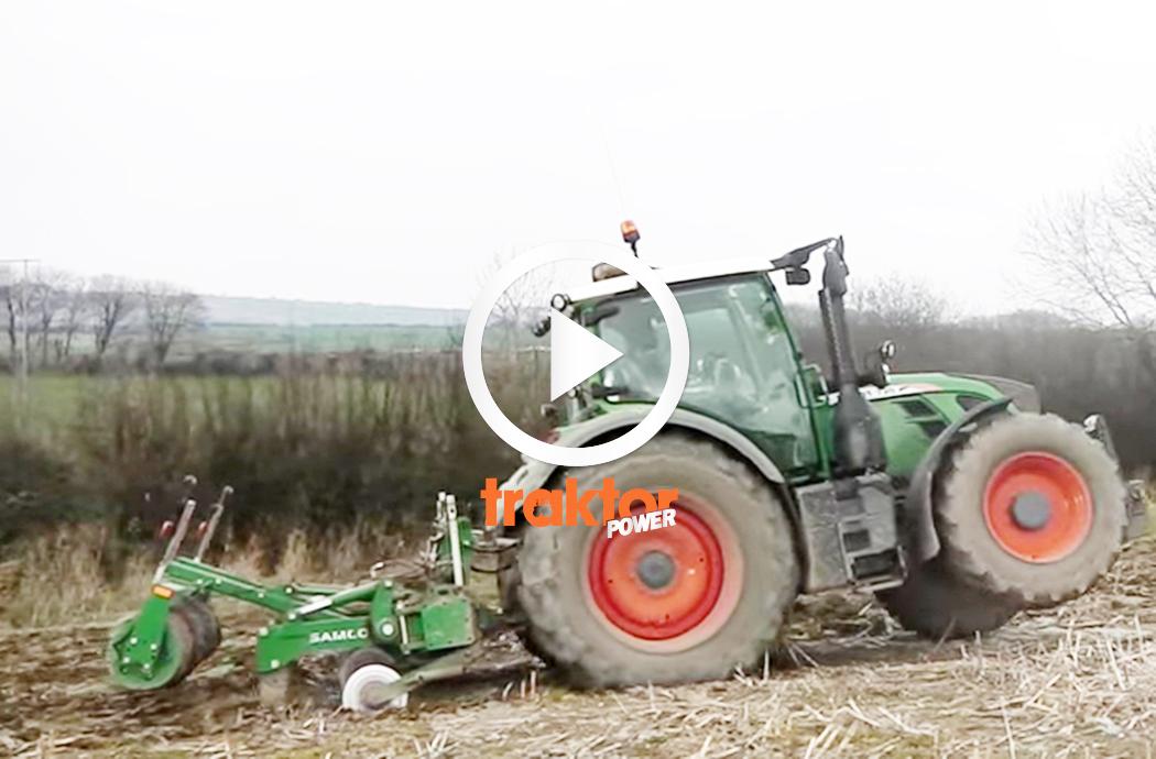 Kolla hur Fendt-traktorn drar!