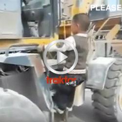 Hur många år tror du att den här hjullastarföraren är?