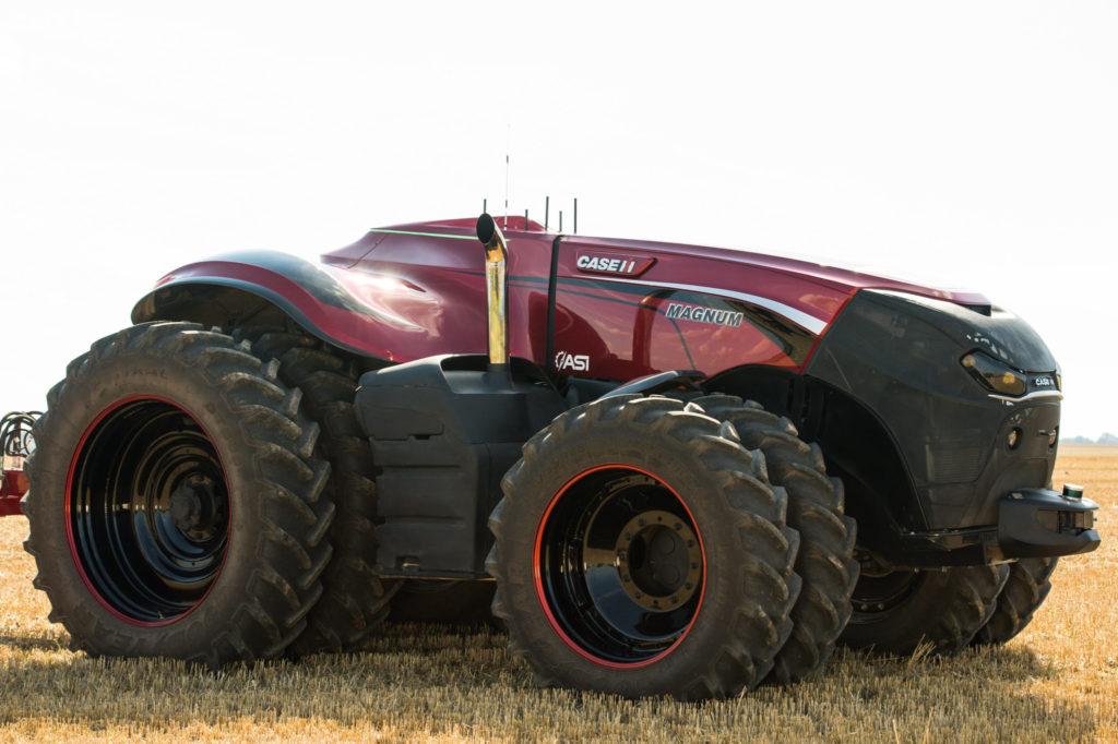 Case IH visade självkörande traktor