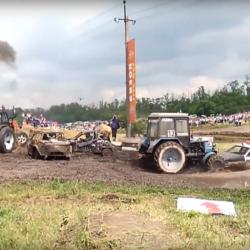 Ryskt traktorrace.