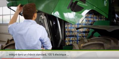John Deere visar eltraktor