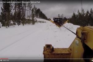 Snöröjning i Yellowstone
