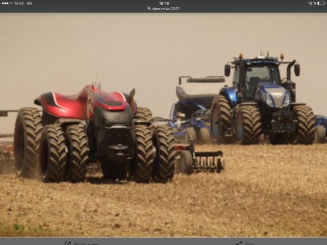 Robottraktorer på SIMA!