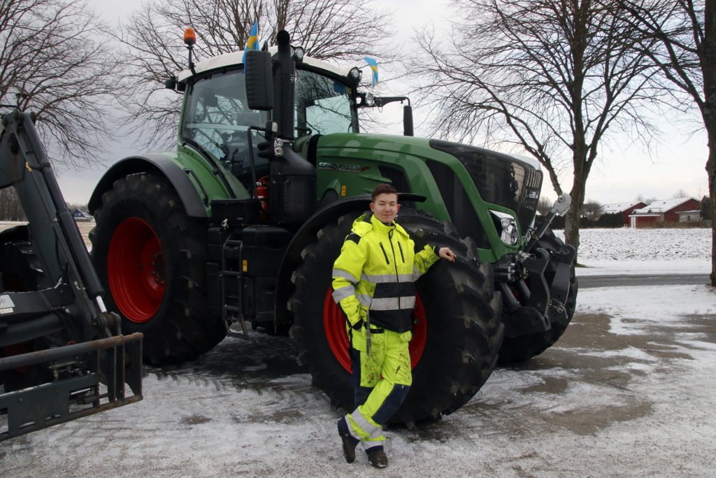 Kristian Andersson tog med sig en Fendt 939 från Lantmännen maskin.