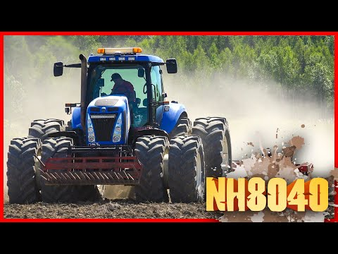Full speed med New Holland T8040!
